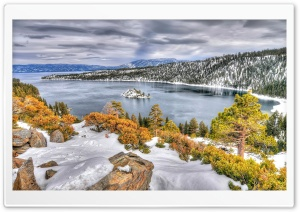 Usa Island In Lake Tahoe California HD Wide Wallpaper for 4K UHD Widescreen desktop & smartphone