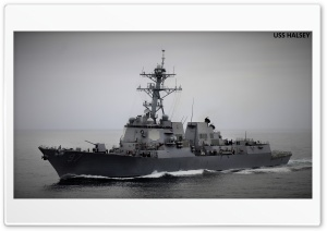 USS HALSEY HD Wide Wallpaper for Widescreen