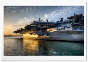 USS Midway HD Wide Wallpaper for 4K UHD Widescreen desktop & smartphone