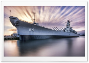 USS Wisconsin BB-64 Iowa-Class Battleship HD Wide Wallpaper for 4K UHD Widescreen desktop & smartphone