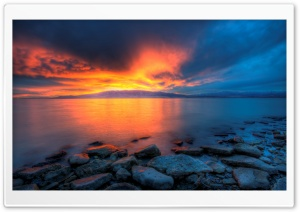 Utah Lake Sunset HD Wide Wallpaper for Widescreen