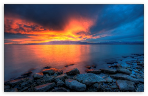 Utah Lake Sunset HD wallpaper for Wide 16:10 5:3 Widescreen WHXGA WQXGA WUXGA WXGA WGA ; HD 16:9 High Definition WQHD QWXGA 1080p 900p 720p QHD nHD ; UHD 16:9 WQHD QWXGA 1080p 900p 720p QHD nHD ; Standard 4:3 5:4 3:2 Fullscreen UXGA XGA SVGA QSXGA SXGA DVGA HVGA HQVGA devices ( Apple PowerBook G4 iPhone 4 3G 3GS iPod Touch ) ; Tablet 1:1 ; iPad 1/2/Mini ; Mobile 4:3 5:3 3:2 16:9 5:4 - UXGA XGA SVGA WGA DVGA HVGA HQVGA devices ( Apple PowerBook G4 iPhone 4 3G 3GS iPod Touch ) WQHD QWXGA 1080p 900p 720p QHD nHD QSXGA SXGA ; Dual 16:10 5:3 16:9 WHXGA WQXGA WUXGA WXGA WGA WQHD QWXGA 1080p 900p 720p QHD nHD ;