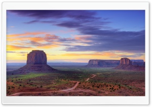 Utah Monument Valley Road Ultra HD Wallpaper for 4K UHD Widescreen desktop, tablet & smartphone