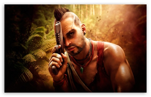 Vaas Far Cry 3 HD wallpaper for Standard 4:3 5:4 Fullscreen UXGA XGA SVGA QSXGA SXGA ; Wide 16:10 5:3 Widescreen WHXGA WQXGA WUXGA WXGA WGA ; HD 16:9 High Definition WQHD QWXGA 1080p 900p 720p QHD nHD ; Other 3:2 DVGA HVGA HQVGA devices ( Apple PowerBook G4 iPhone 4 3G 3GS iPod Touch ) ; Mobile VGA WVGA iPhone iPad PSP Phone - VGA QVGA Smartphone ( PocketPC GPS iPod Zune BlackBerry HTC Samsung LG Nokia Eten Asus ) WVGA WQVGA Smartphone ( HTC Samsung Sony Ericsson LG Vertu MIO ) HVGA Smartphone ( Apple iPhone iPod BlackBerry HTC Samsung Nokia ) Sony PSP Zune HD Zen ; Tablet 2 ;