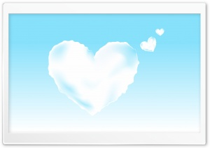 Valentine Hearts In The Sky HD Wide Wallpaper for Widescreen