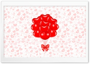 Valentine's Day Balloon Bouquet HD Wide Wallpaper for Widescreen