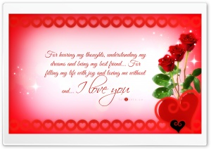 Valentines Day Card - Reasons why I Love You HD Wide Wallpaper for Widescreen