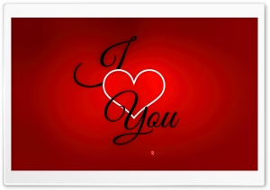 Valentines Day I love you Card HD Wide Wallpaper for Widescreen