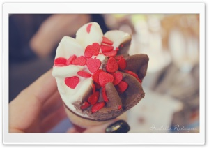 Valentine's Day Ice Cream HD Wide Wallpaper for Widescreen