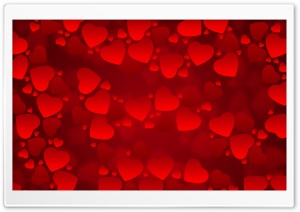 Valentines Day Red Hearts HD Wide Wallpaper for Widescreen
