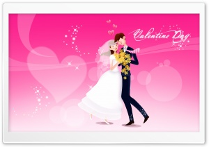 Valentine's Day Wedding HD Wide Wallpaper for Widescreen