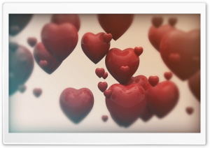 Valentines Hearts HD Wide Wallpaper for Widescreen