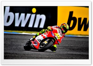 Valentino Rossi On Ducati Motorcycle HD Wide Wallpaper for Widescreen