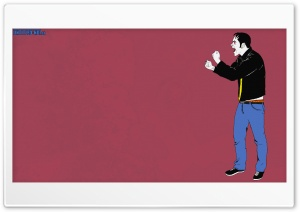 Vampire Rocker PopArt Style HD Wide Wallpaper for Widescreen