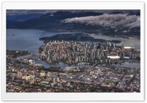 Vancouver Aerial View HD Wide Wallpaper for 4K UHD Widescreen desktop & smartphone