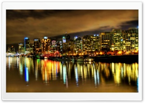 Vancouver At Midnight, Canada HD Wide Wallpaper for Widescreen