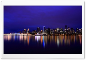 Vancouver At Night HD Wide Wallpaper for Widescreen
