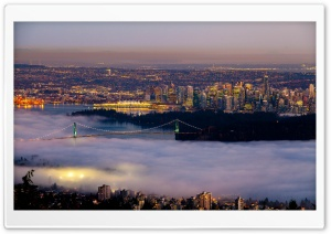 Vancouver Fog City HD Wide Wallpaper for Widescreen