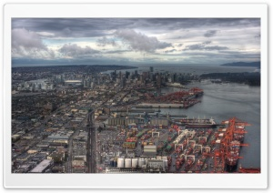 Vancouver from the East HD Wide Wallpaper for 4K UHD Widescreen desktop & smartphone