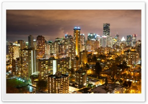 Vancouver Night Photography HD Wide Wallpaper for Widescreen