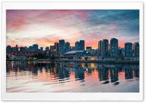 Vancouver Sunset HD Wide Wallpaper for Widescreen