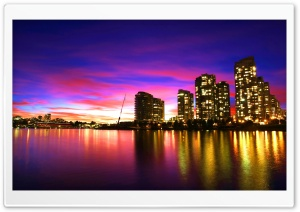 Vancouver Sunset Canada HD Wide Wallpaper for 4K UHD Widescreen desktop & smartphone
