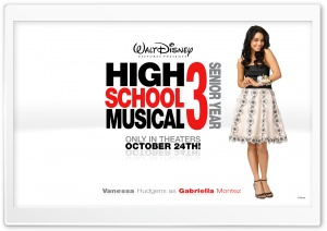 Vanessa Hudgens As Gabriella Montez High School Musical HD Wide Wallpaper for Widescreen