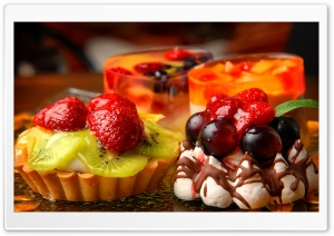 Various Desserts HD Wide Wallpaper for Widescreen