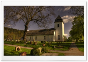 Vastra Tunhems Kyrka Sweden HD Wide Wallpaper for Widescreen