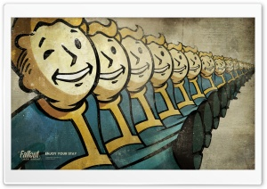 Vault Boy, Fallout New Vegas HD Wide Wallpaper for Widescreen