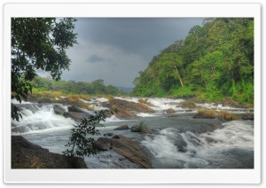 Vazhachal Falls HD Wide Wallpaper for Widescreen