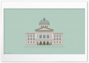 Vector Art Bundeshaus HD Wide Wallpaper for Widescreen