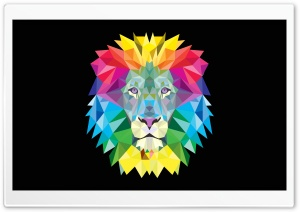 Vector Lion HD Wide Wallpaper for 4K UHD Widescreen desktop & smartphone