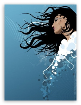 Vector Woman HD wallpaper for Mobile 4:3 3:2 - UXGA XGA SVGA DVGA HVGA HQVGA devices ( Apple PowerBook G4 iPhone 4 3G 3GS iPod Touch ) ;