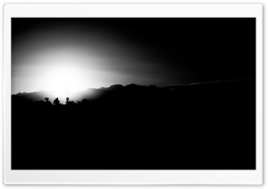 Vegas Sunset Black and White HD Wide Wallpaper for Widescreen