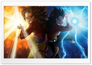 Vegeta and Goku by Madan HD Wide Wallpaper for 4K UHD Widescreen desktop & smartphone