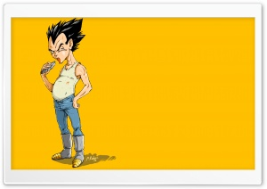 Vegeta Drunk HD Wide Wallpaper for Widescreen