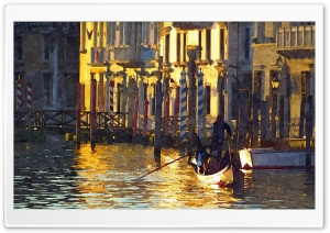 Venice Painting HD Wide Wallpaper for Widescreen