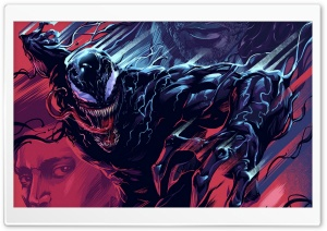 Venom Artwork Comics Ultra HD Wallpaper for 4K UHD Widescreen desktop, tablet & smartphone