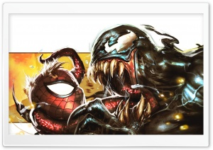 Venom Spiderman Drawing HD Wide Wallpaper for Widescreen