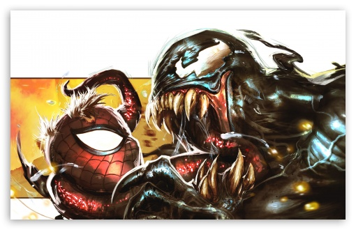Download Venom Spiderman Drawing HD Wallpaper