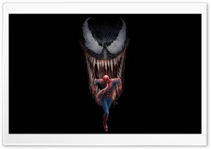 Venom vs Spider-Man Movie Artwork Comics HD Wide Wallpaper for 4K UHD Widescreen desktop & smartphone