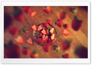 Very Berry Strawberry HD Wide Wallpaper for 4K UHD Widescreen desktop & smartphone