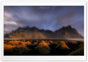 Vestrahorn, Iceland, Sunset Ultra HD Wallpaper for 4K UHD Widescreen desktop, tablet & smartphone