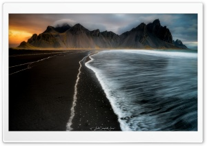 Vestrahorn Mountain Black Sand Beach, Iceland Ultra HD Wallpaper for 4K UHD Widescreen desktop, tablet & smartphone