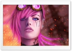Vi the Piltover Enforcer - League of Legends HD Wide Wallpaper for Widescreen