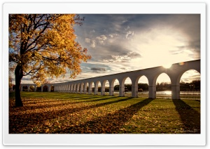 Viaduct, Autumn HD Wide Wallpaper for Widescreen