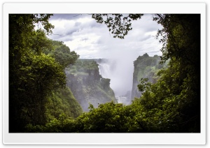 Victoria Falls, Zimbabwe HD Wide Wallpaper for Widescreen