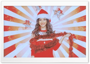 Victoria Justice Christmas Outfit HD Wide Wallpaper for Widescreen