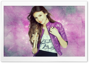 Victoria Justice Singing HD Wide Wallpaper for Widescreen